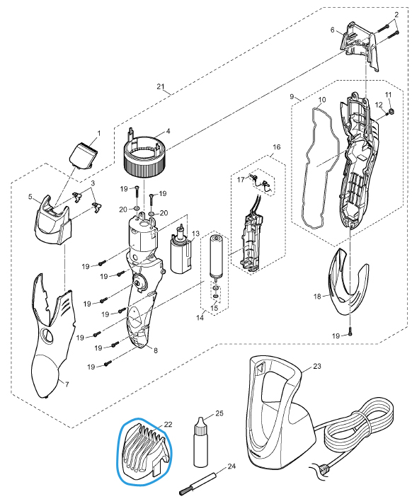 sabot réglagle 1 à 10 mm tondeuse panasonic er gb40