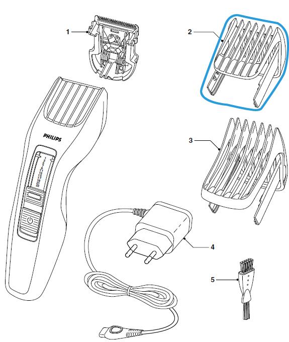 sabot barbe tondeuse philips hc3410