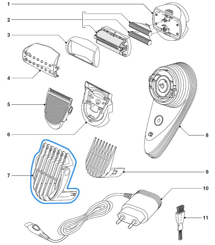 sabot précision tondeuse philips qc5550