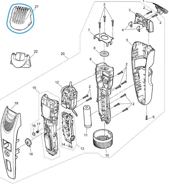 sabot réglable 1 à 10 mm tondeuse panasonic es sb60