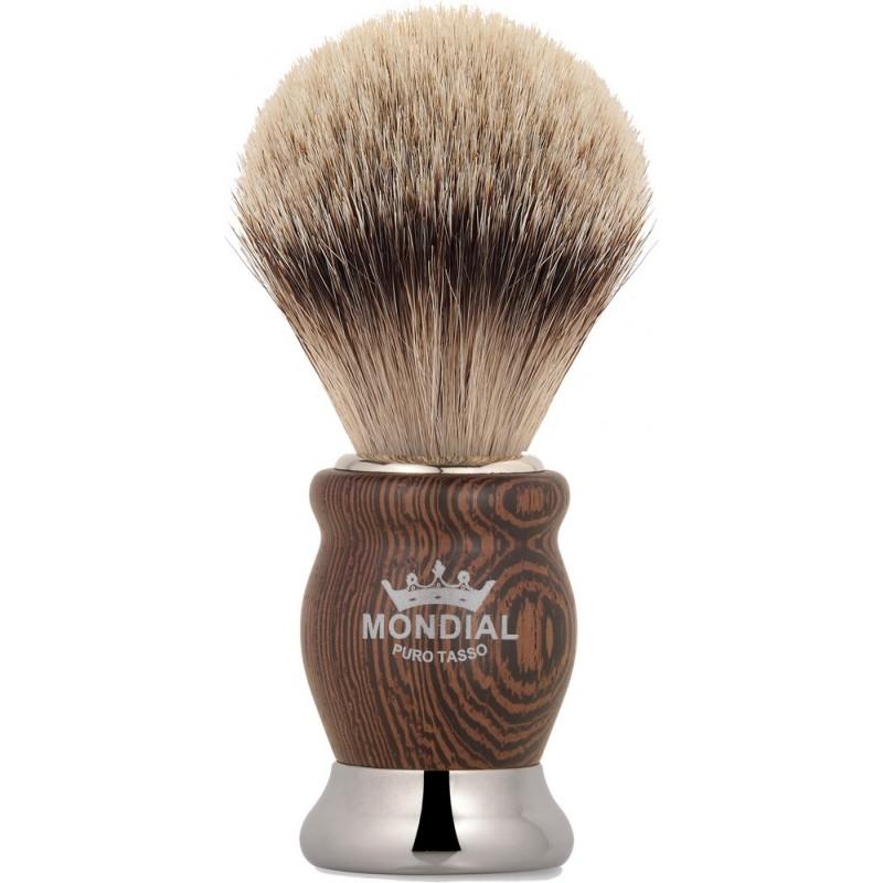 Blaireau héritahe super badger pur poil blanc européen taille 10 manche wengé MONDIAL 1908