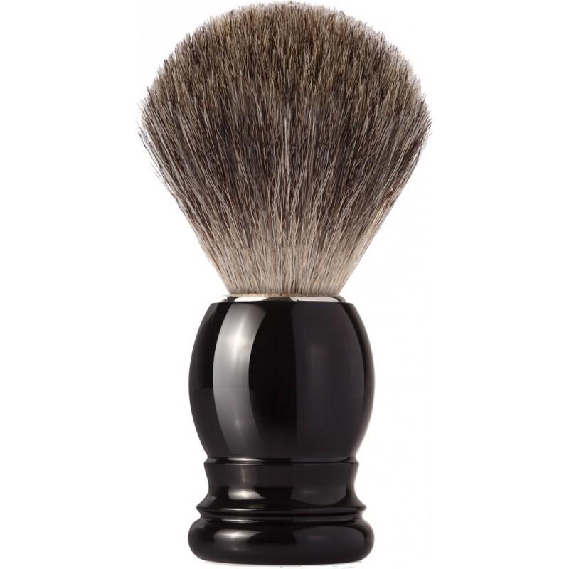 blaireau best badger pur poil gris taille 12 manche noir MONDIAL 1908