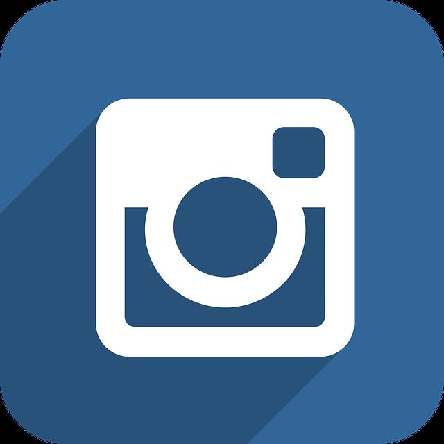 logo instagram bleu rasoir service