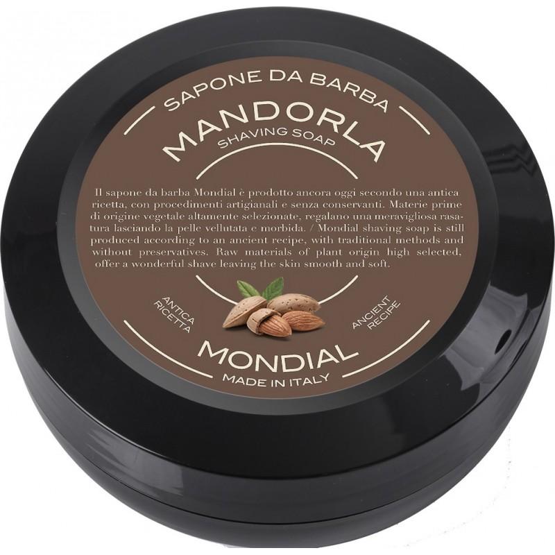 savon à barbe amande douce mondial shaving rasoir service