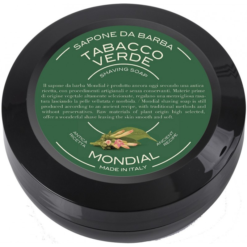 savon à barbe tabacco verde mondial shaving rasoir service